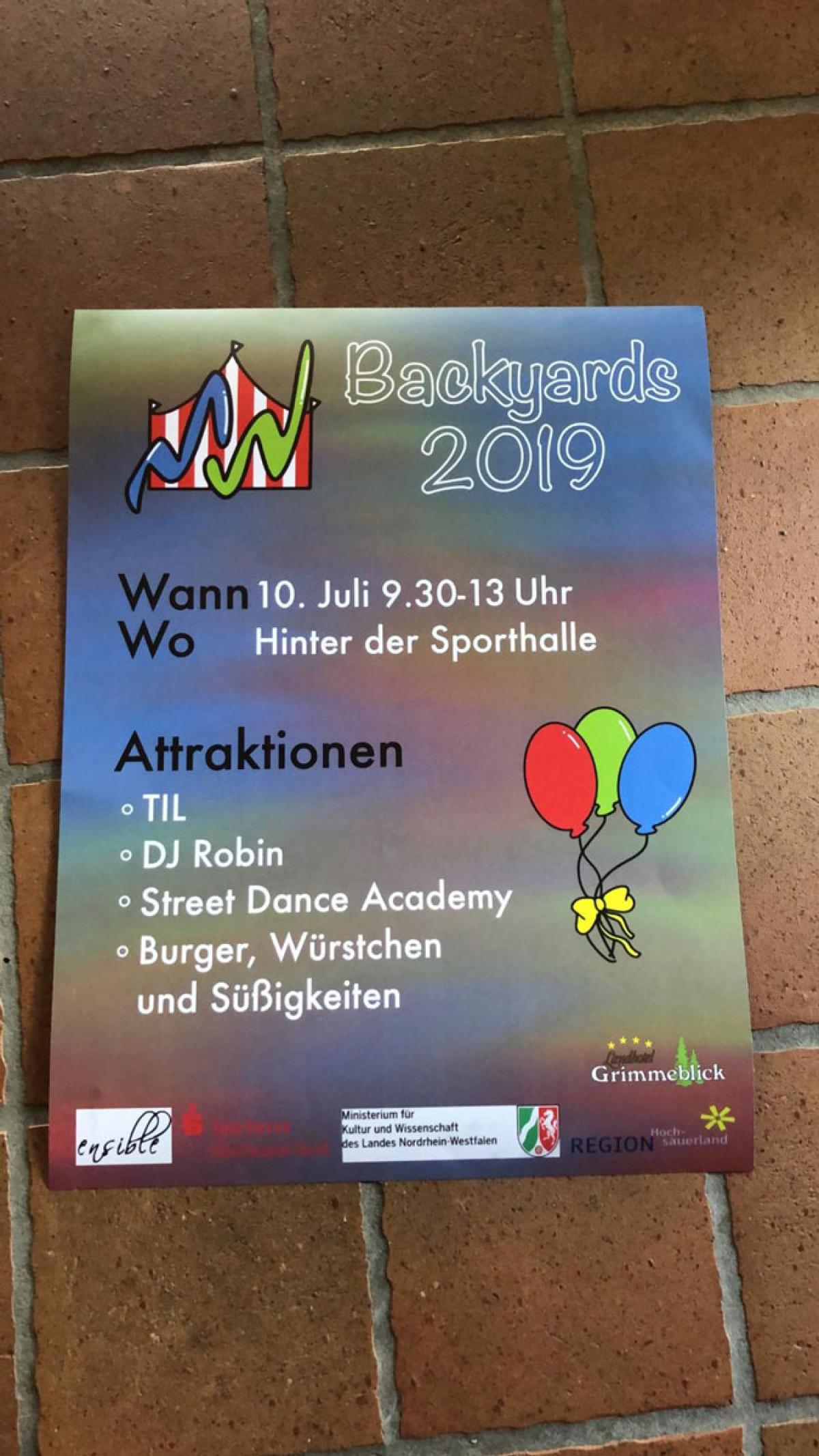 Backyards-Schulhoffestival 2019
